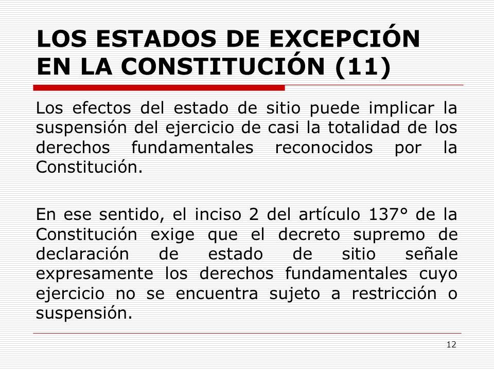 LOS ESTADOS DE EXCEPCIÓN EN LA CONSTITUCIÓN (11)