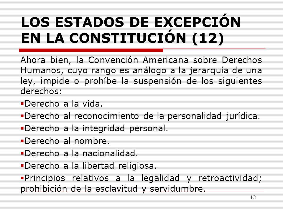 LOS ESTADOS DE EXCEPCIÓN EN LA CONSTITUCIÓN (12)