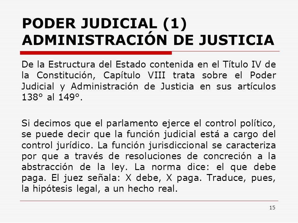 PODER JUDICIAL (1) ADMINISTRACIÓN DE JUSTICIA