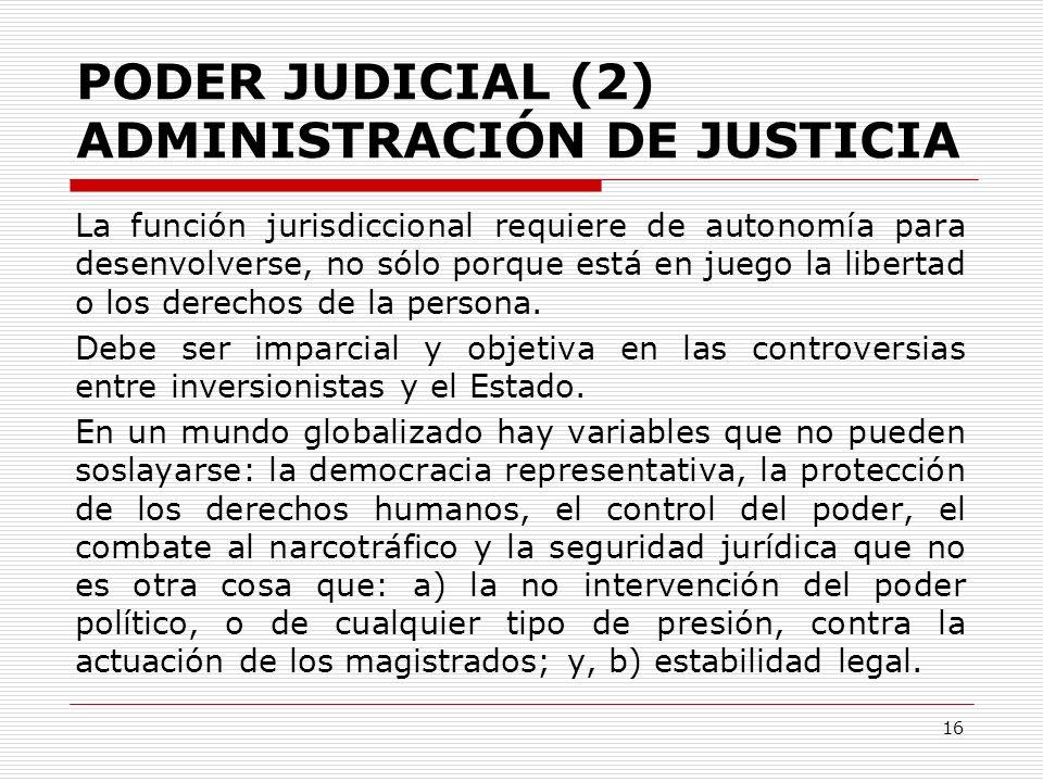 PODER JUDICIAL (2) ADMINISTRACIÓN DE JUSTICIA