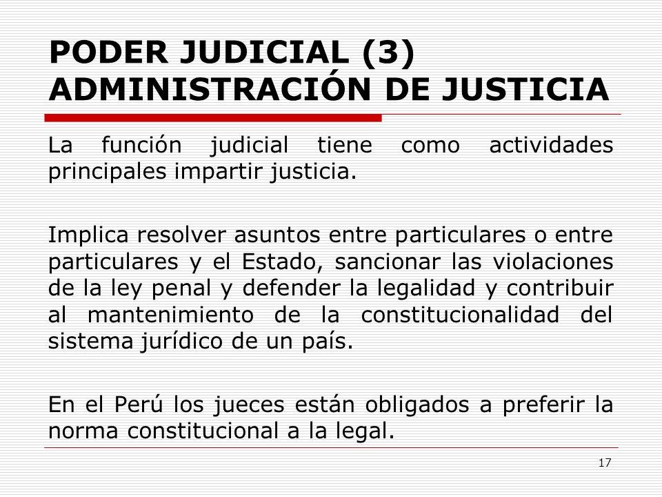 PODER JUDICIAL (3) ADMINISTRACIÓN DE JUSTICIA
