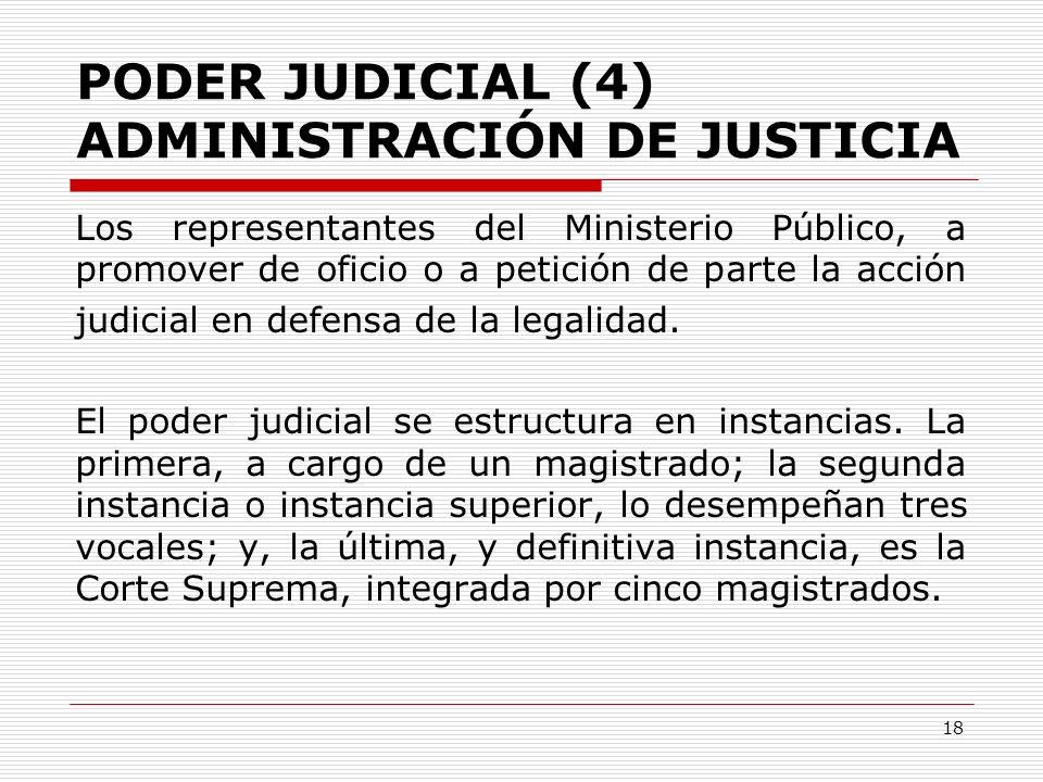 PODER JUDICIAL (4) ADMINISTRACIÓN DE JUSTICIA