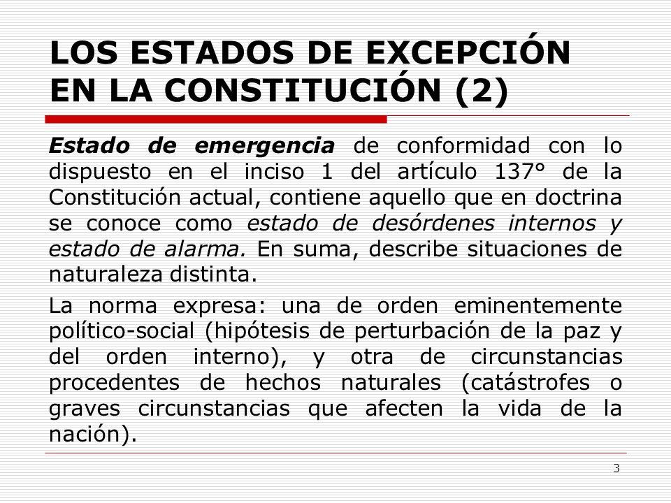 LOS ESTADOS DE EXCEPCIÓN EN LA CONSTITUCIÓN (2)