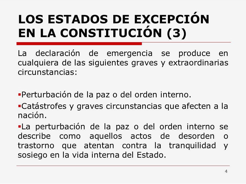 LOS ESTADOS DE EXCEPCIÓN EN LA CONSTITUCIÓN (3)