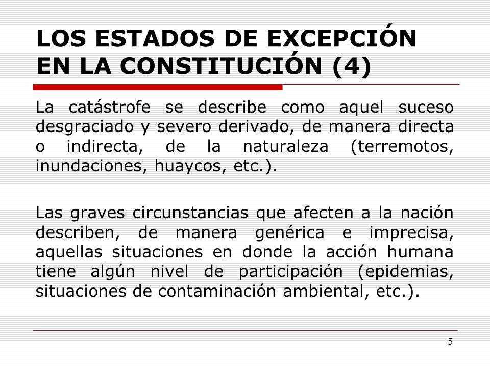 LOS ESTADOS DE EXCEPCIÓN EN LA CONSTITUCIÓN (4)