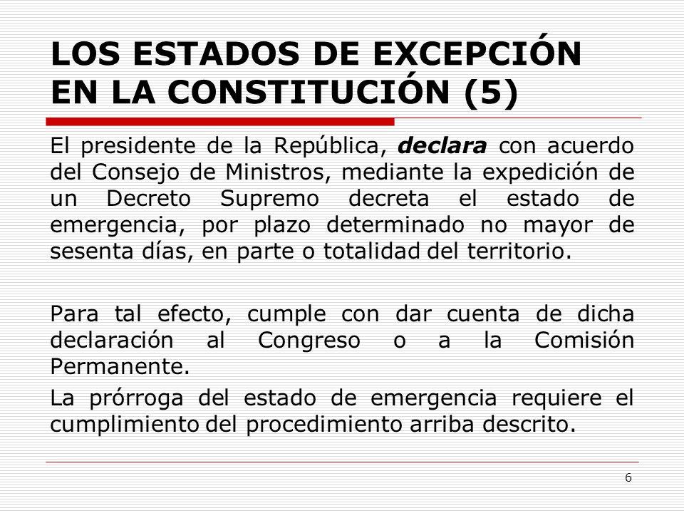 LOS ESTADOS DE EXCEPCIÓN EN LA CONSTITUCIÓN (5)