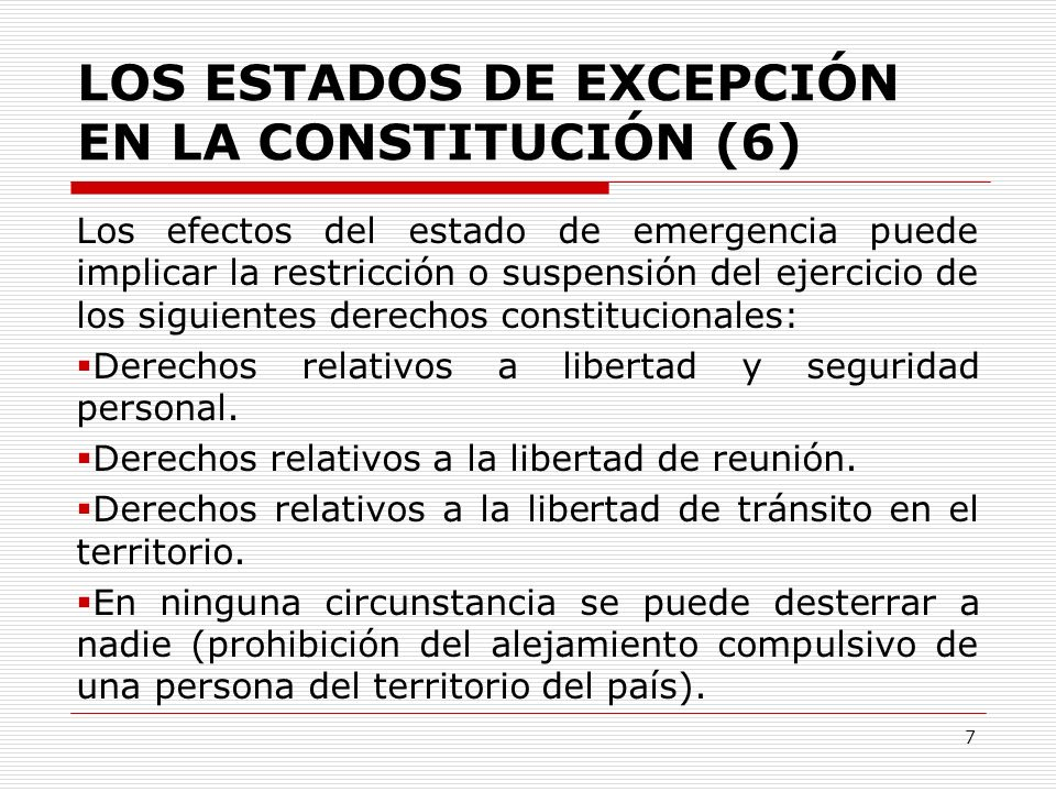 LOS ESTADOS DE EXCEPCIÓN EN LA CONSTITUCIÓN (6)