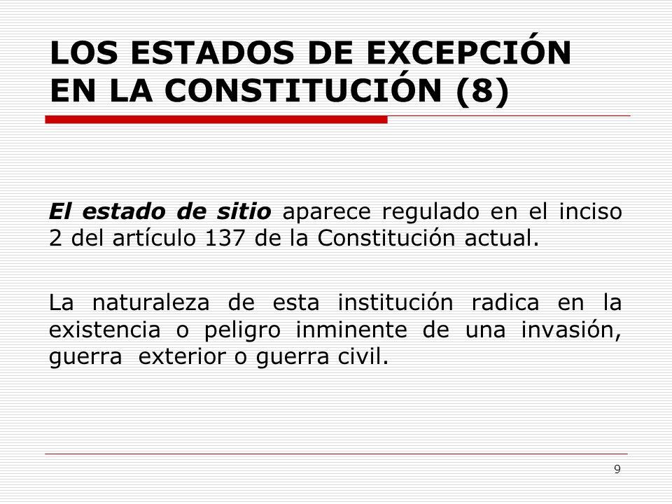 LOS ESTADOS DE EXCEPCIÓN EN LA CONSTITUCIÓN (8)