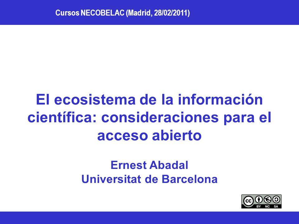 Ernest Abadal Universitat de Barcelona