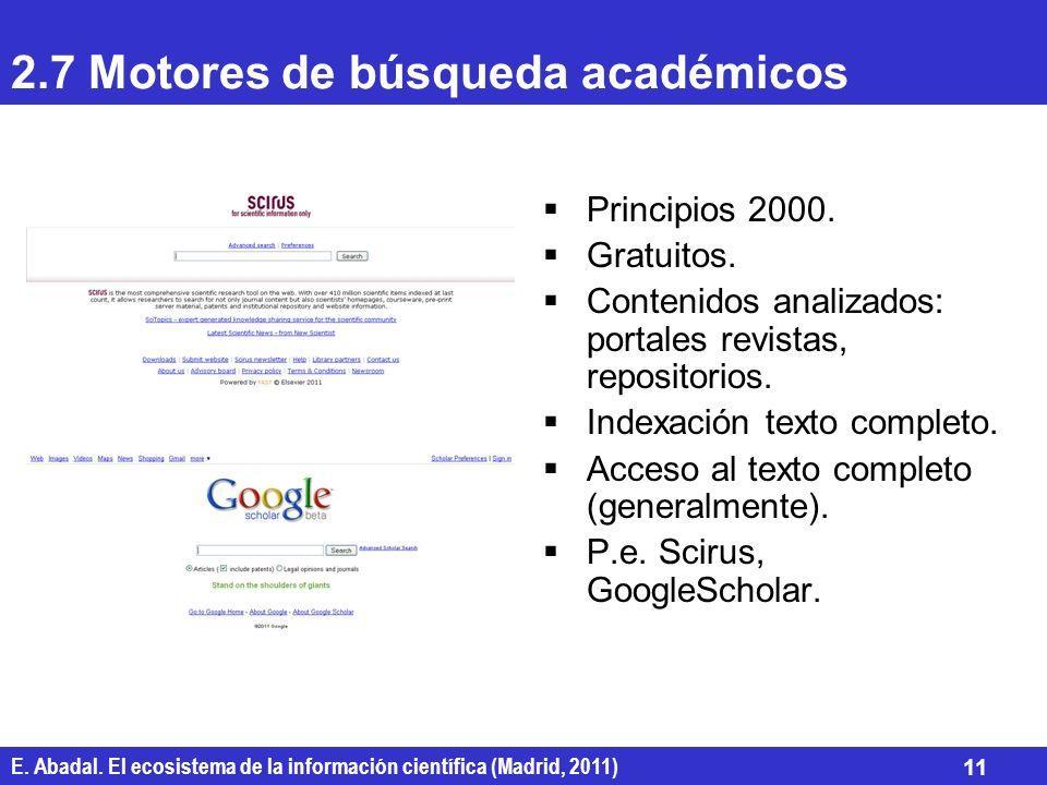 2.7 Motores de búsqueda académicos