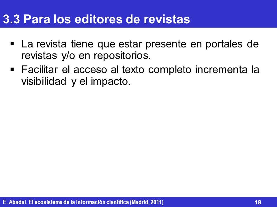 3.3 Para los editores de revistas