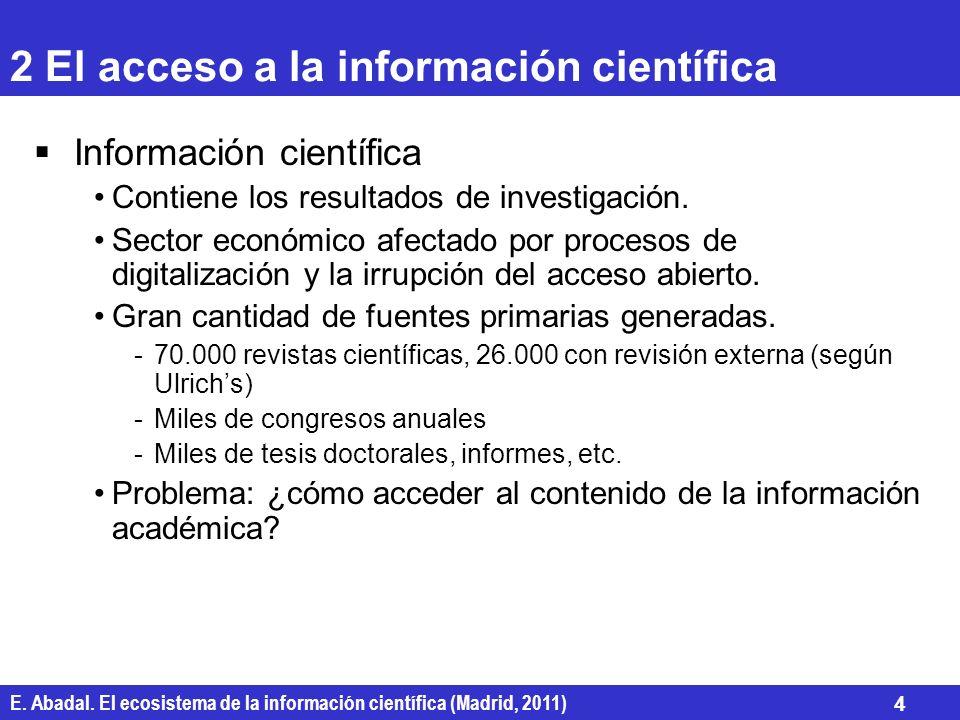 2 El acceso a la información científica