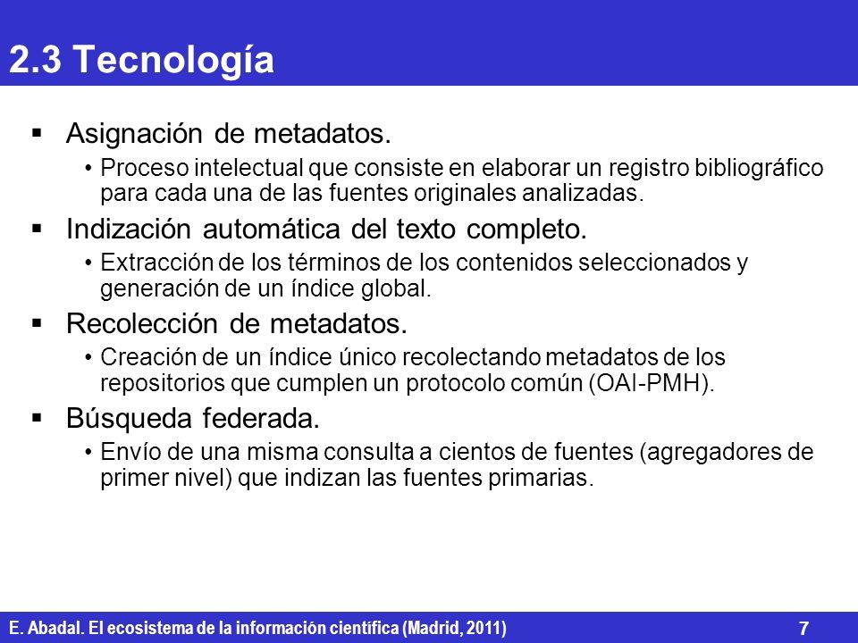 2.3 Tecnología Asignación de metadatos.
