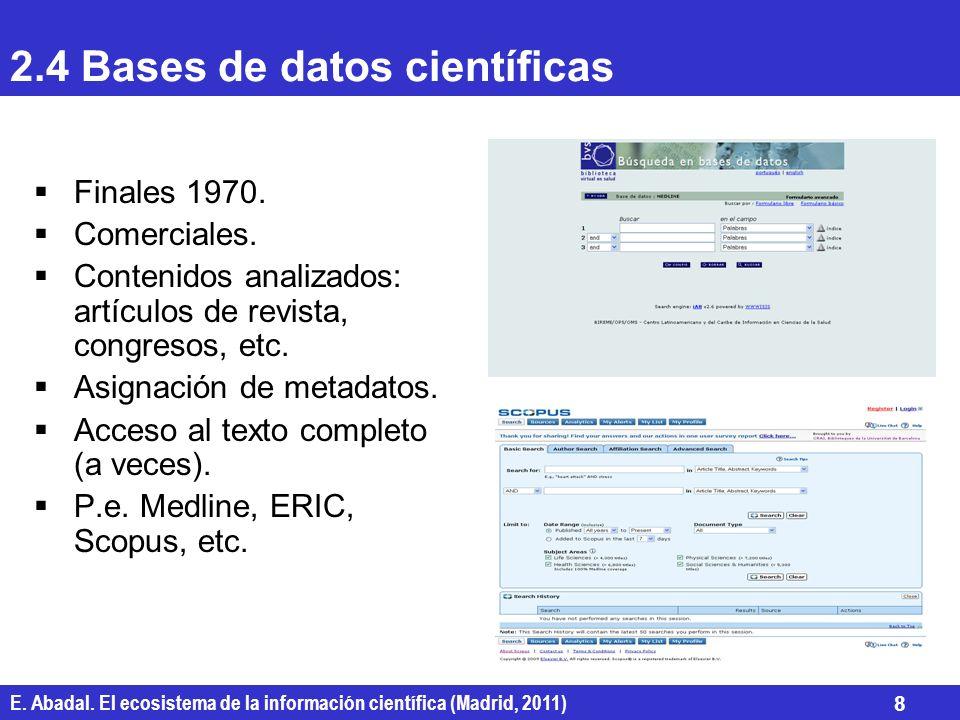 2.4 Bases de datos científicas