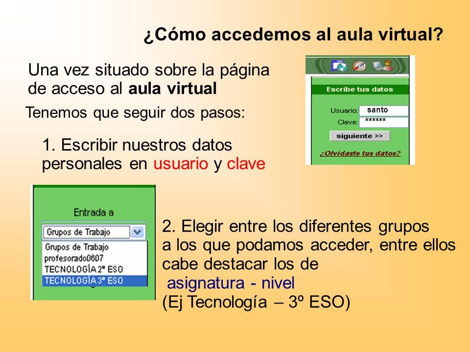 ¿Cómo accedemos al aula virtual