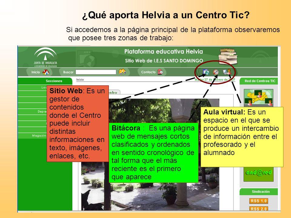¿Qué aporta Helvia a un Centro Tic