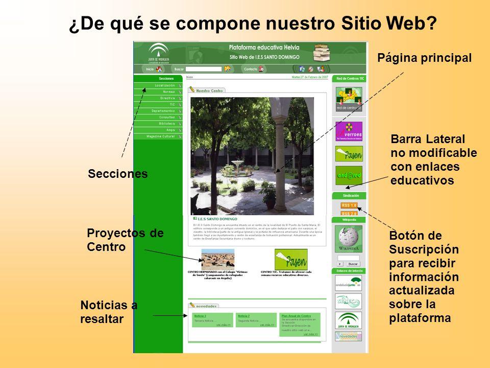 ¿De qué se compone nuestro Sitio Web