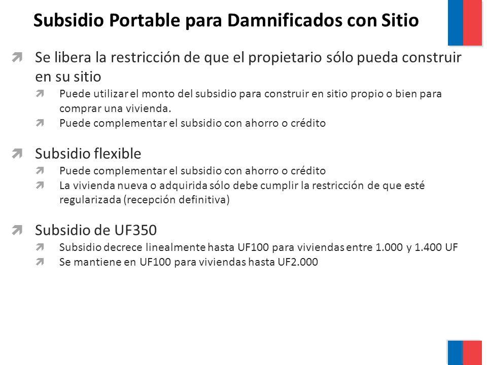 Subsidio Portable para Damnificados con Sitio