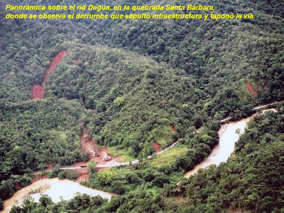 Panorámica sobre el río Dagua, en la quebrada Santa Bárbara,