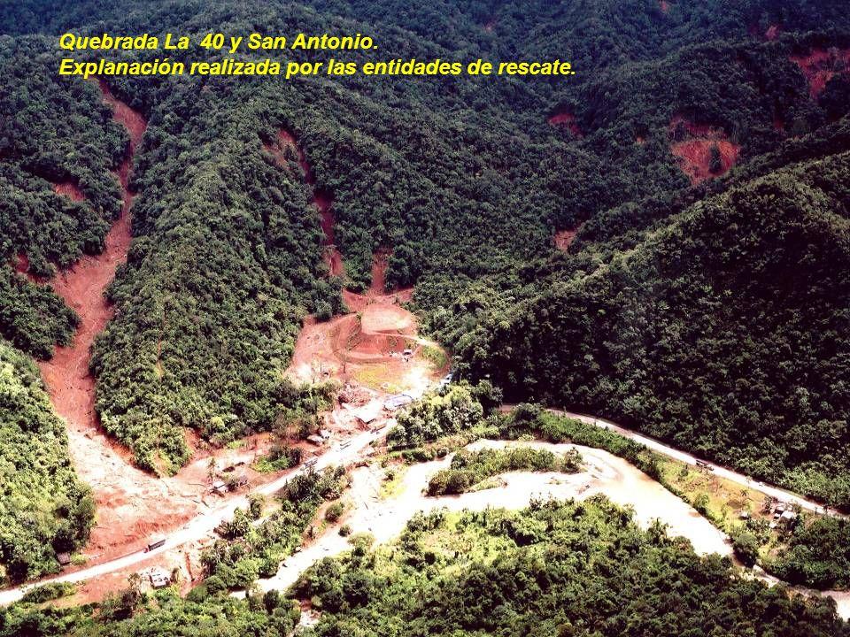 Quebrada La 40 y San Antonio.