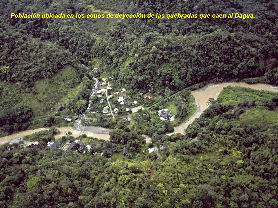 Población ubicada en los conos de deyección de las quebradas que caen al Dagua.