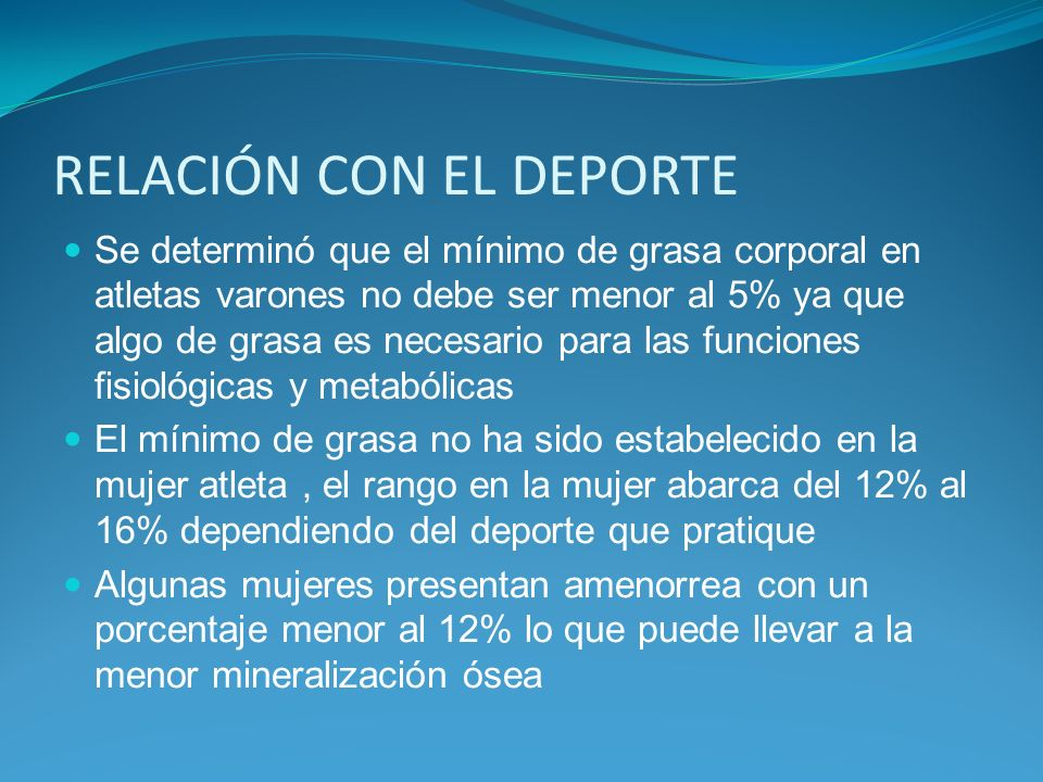 RELACIÓN CON EL DEPORTE