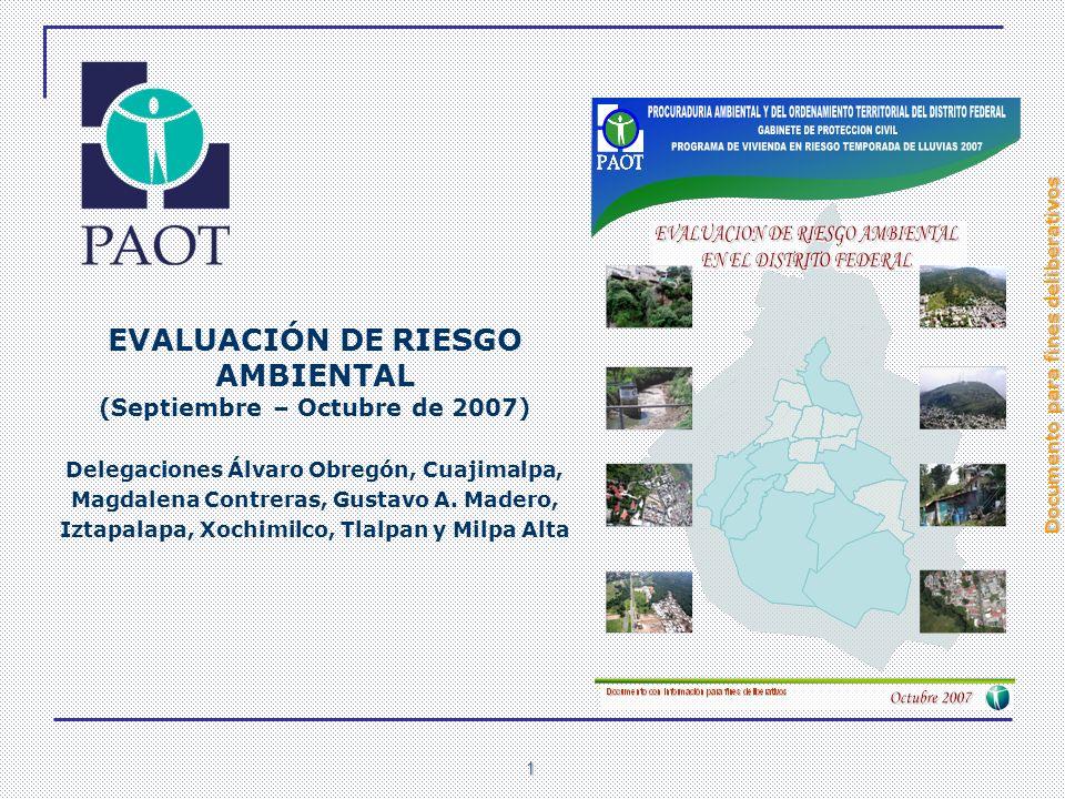 EVALUACIÓN DE RIESGO AMBIENTAL (Septiembre – Octubre de 2007)