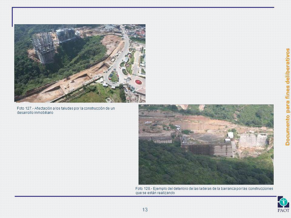 Foto 127.- Afectación a los taludes por la construcción de un desarrollo inmobiliario