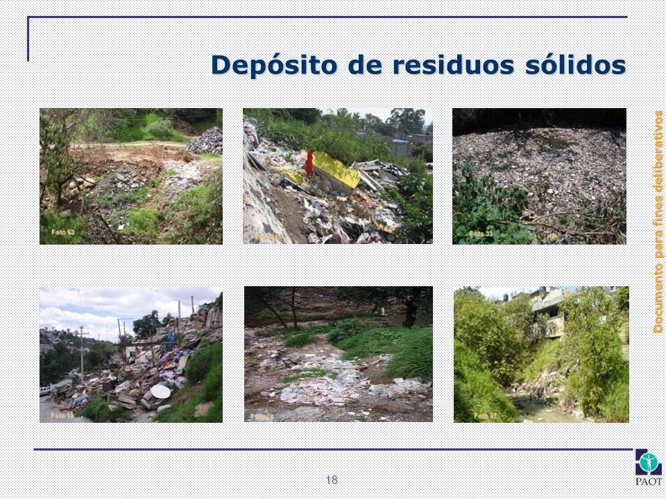 Depósito de residuos sólidos
