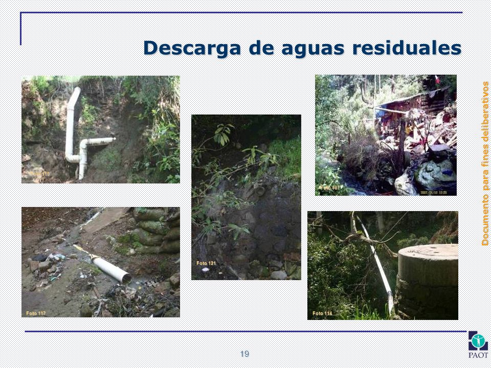 Descarga de aguas residuales