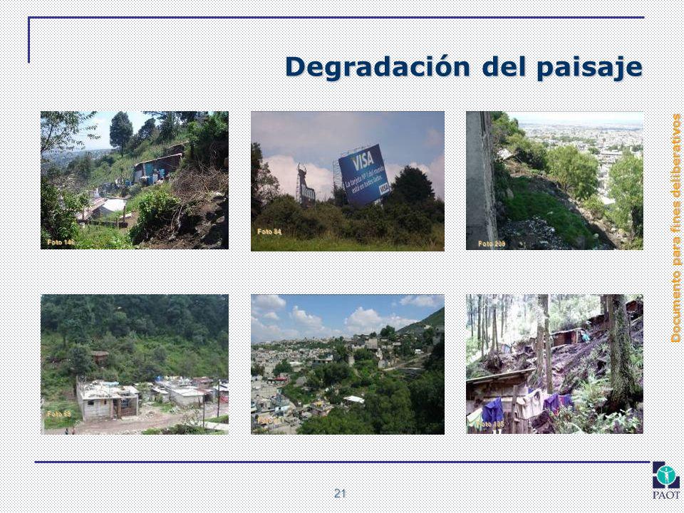 Degradación del paisaje