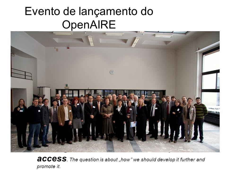 Evento de lançamento do OpenAIRE