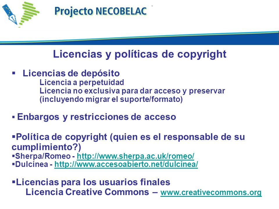 Licencias y políticas de copyright