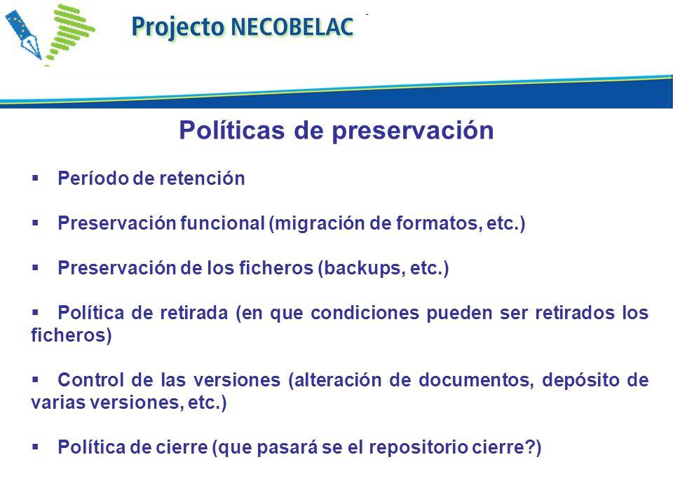 Políticas de preservación