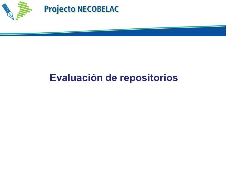 Evaluación de repositorios