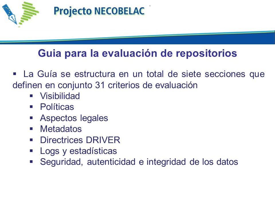 Guia para la evaluación de repositorios