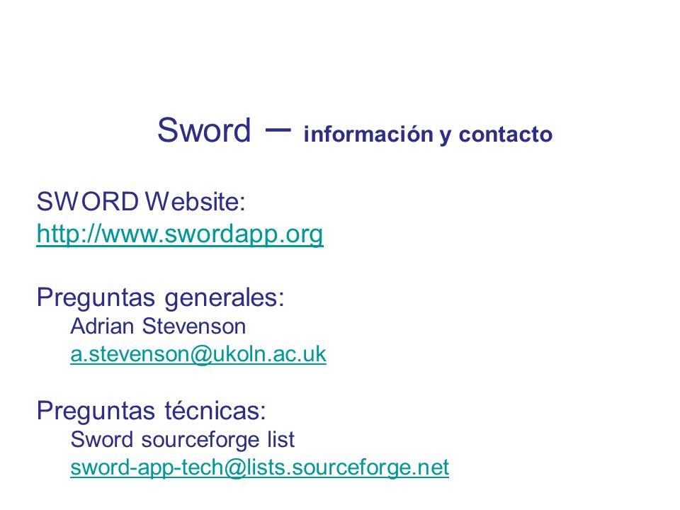 Sword – información y contacto