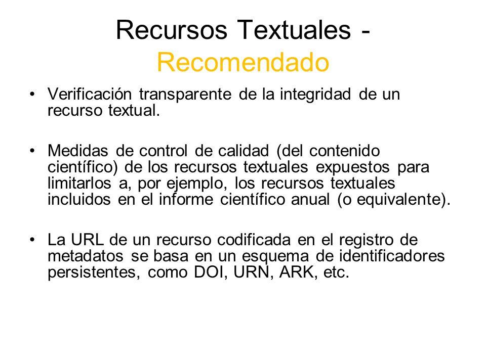 Recursos Textuales - Recomendado
