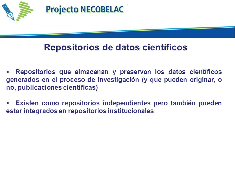 Repositorios de datos científicos