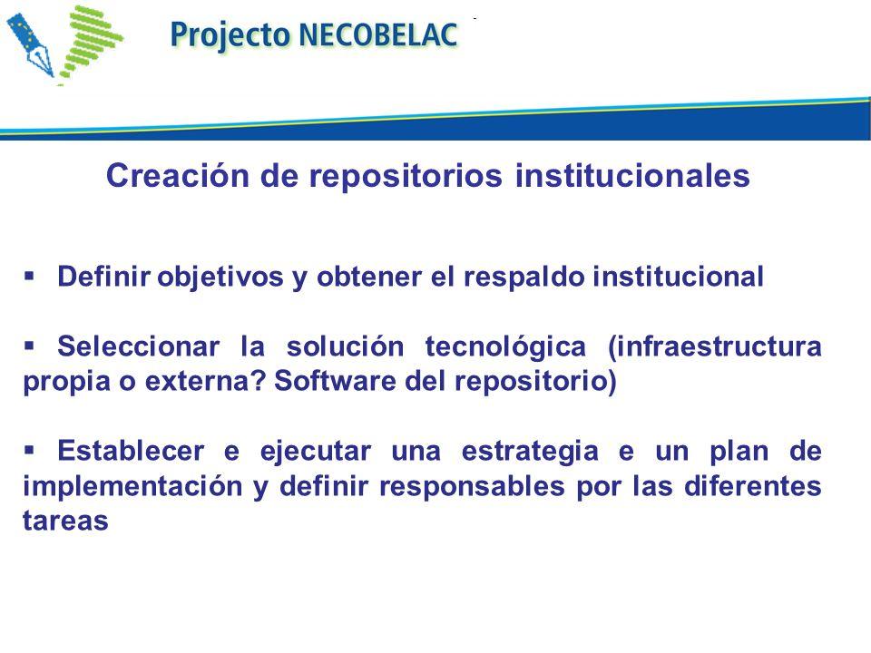 Creación de repositorios institucionales