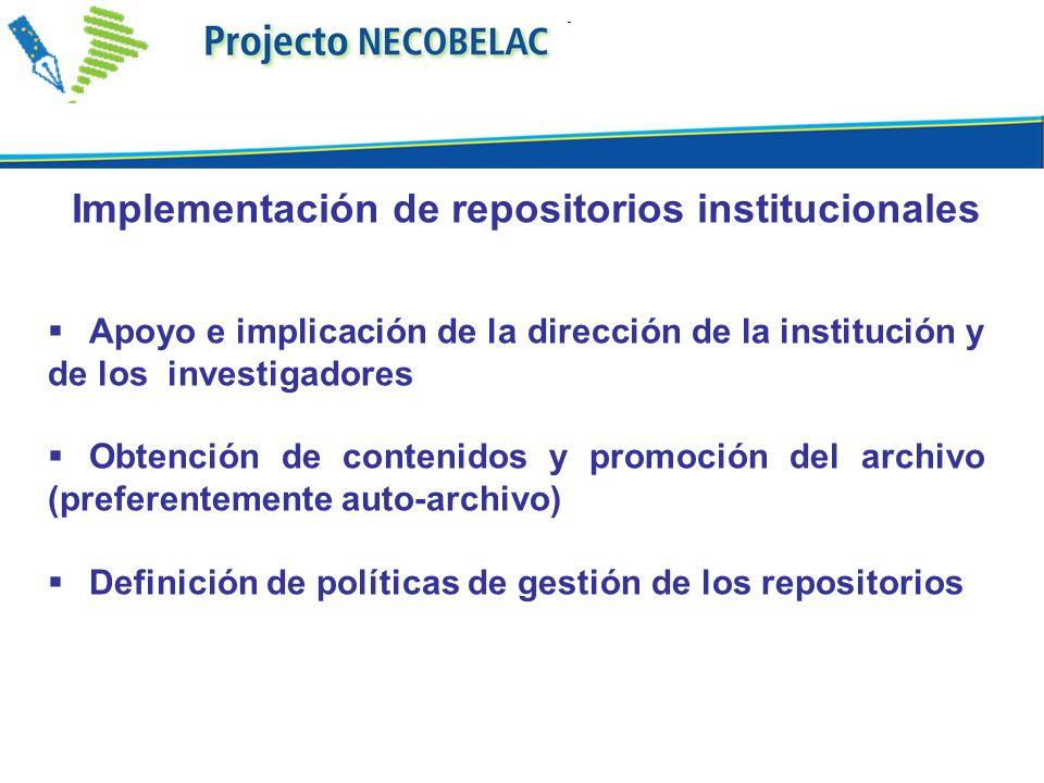 Implementación de repositorios institucionales