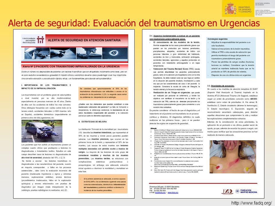 Alerta de seguridad: Evaluación del traumatismo en Urgencias