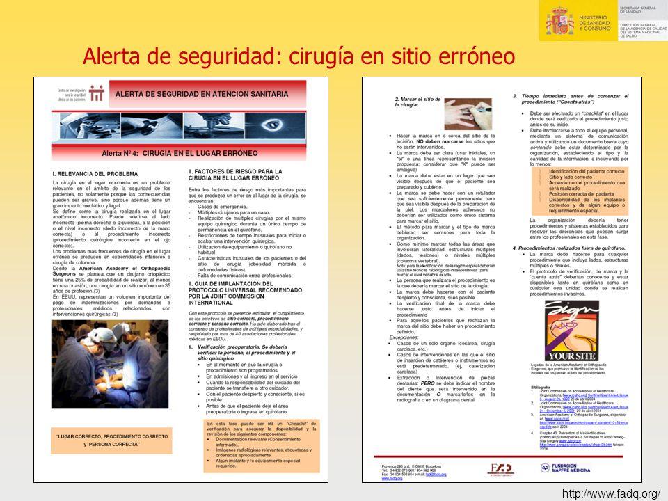 Alerta de seguridad: cirugía en sitio erróneo