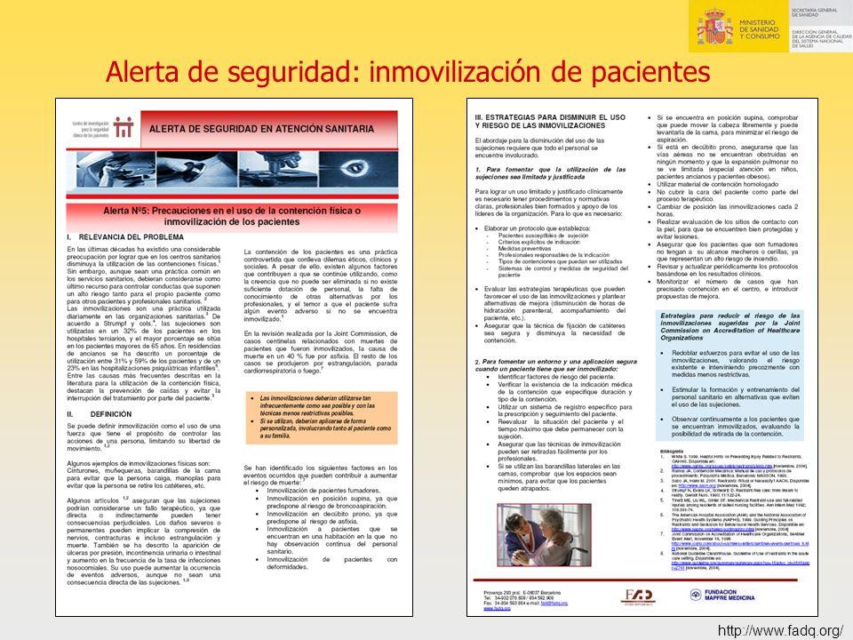 Alerta de seguridad: inmovilización de pacientes