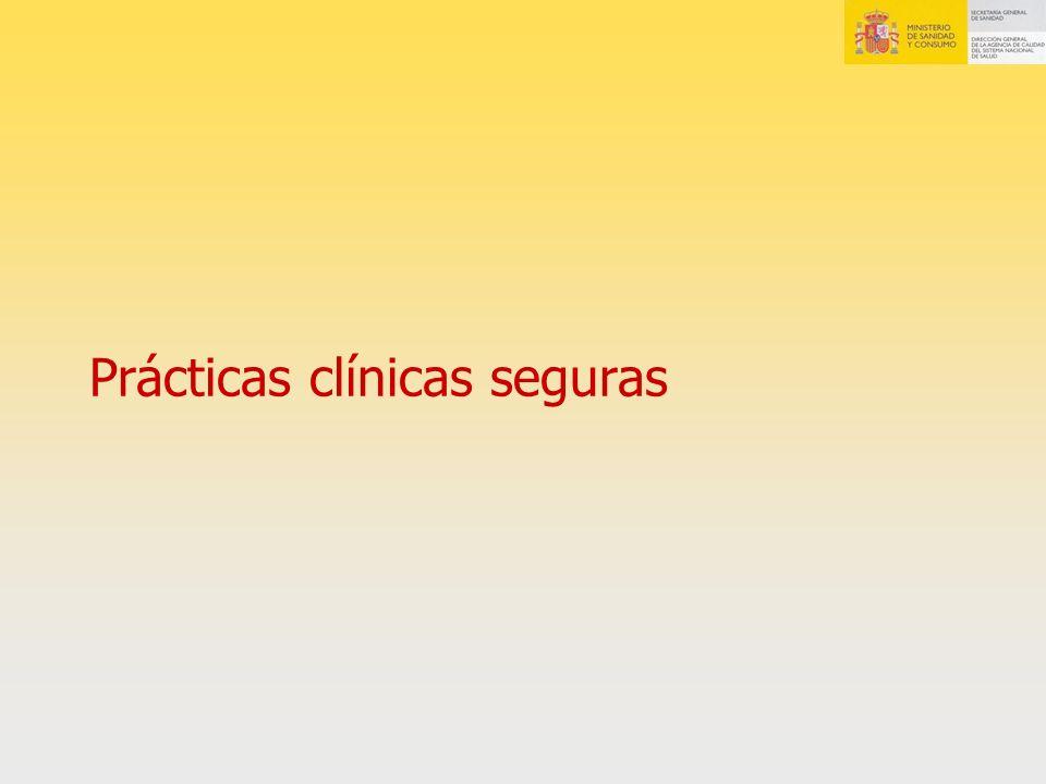 Prácticas clínicas seguras