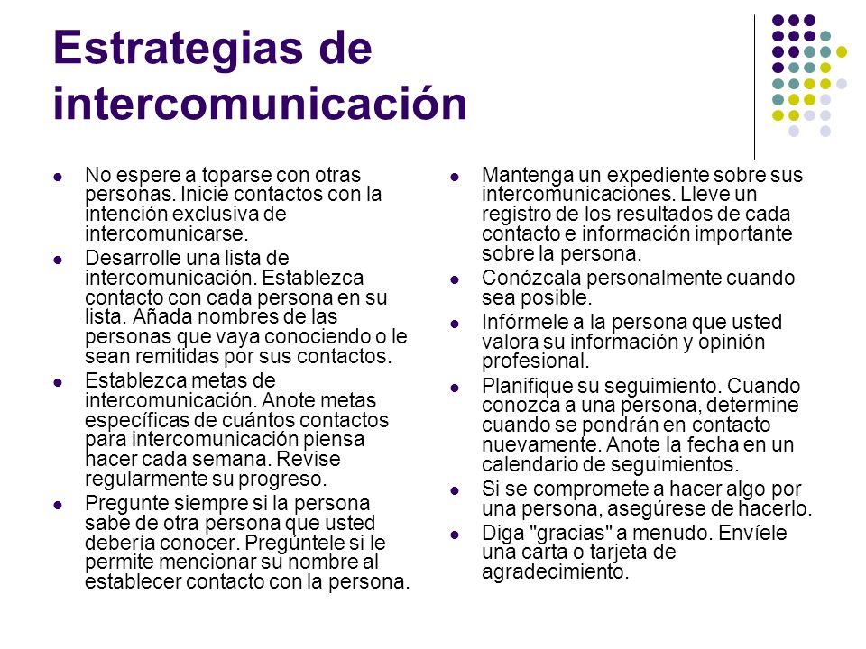 Estrategias de intercomunicación