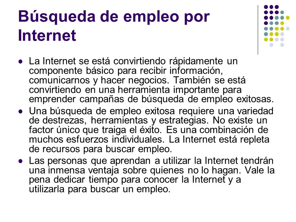 Búsqueda de empleo por Internet