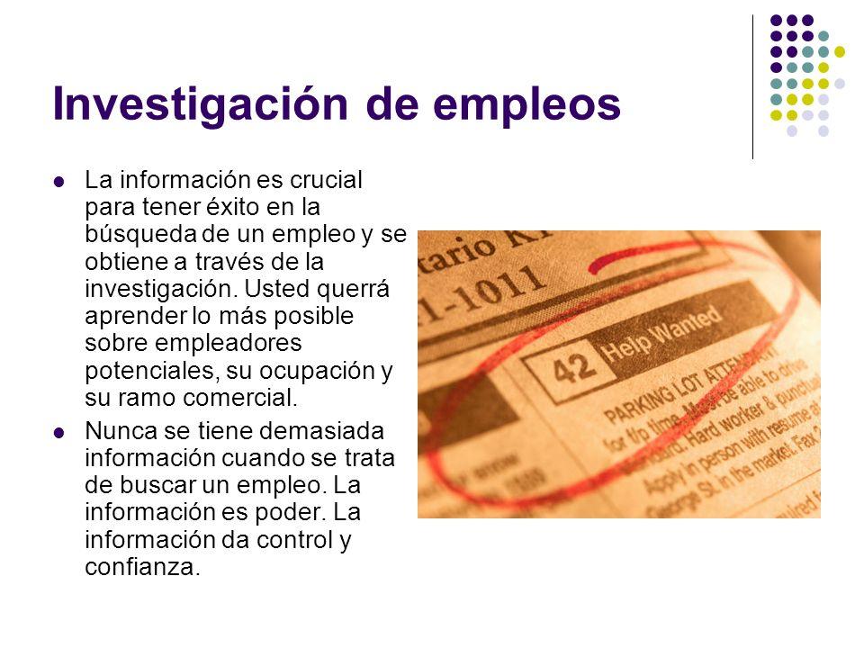 Investigación de empleos