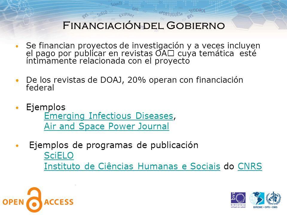 Financiación del Gobierno