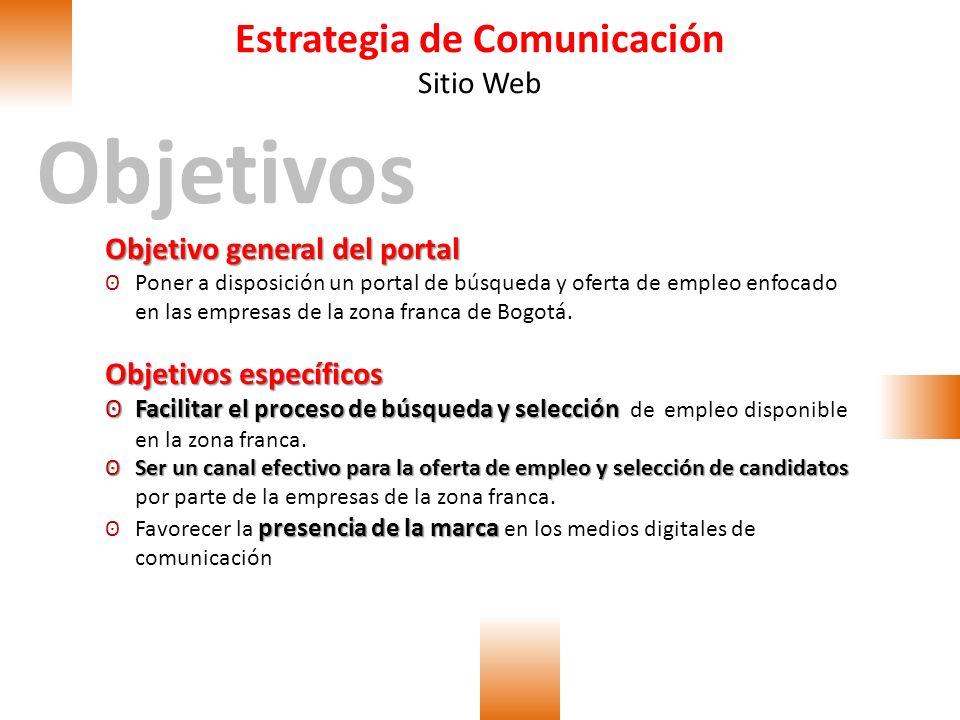 Estrategia de Comunicación Sitio Web